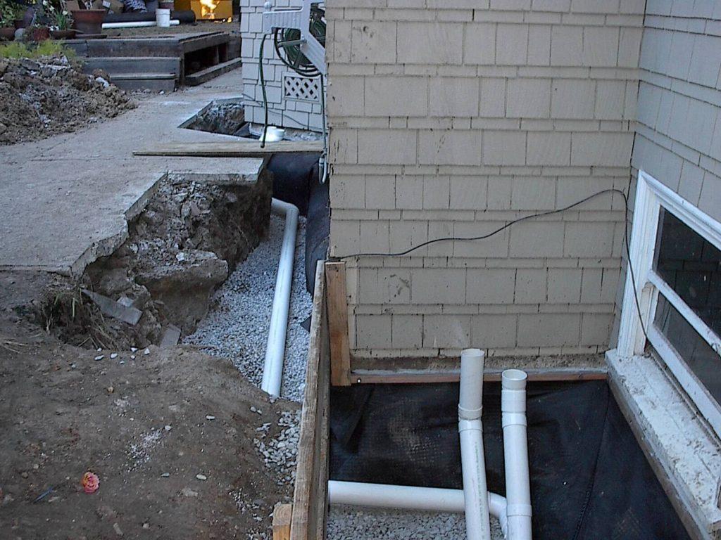 french drain repair