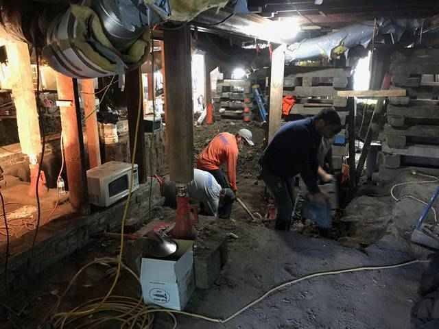 foundation repair basement digout oakland