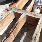 Dry rot in the framing could result in a serious failure over time