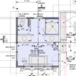 Floor plan for the new bathroom addition