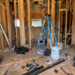 The addition is a large bathroom- rugh plumbing an wiring are almost complete.