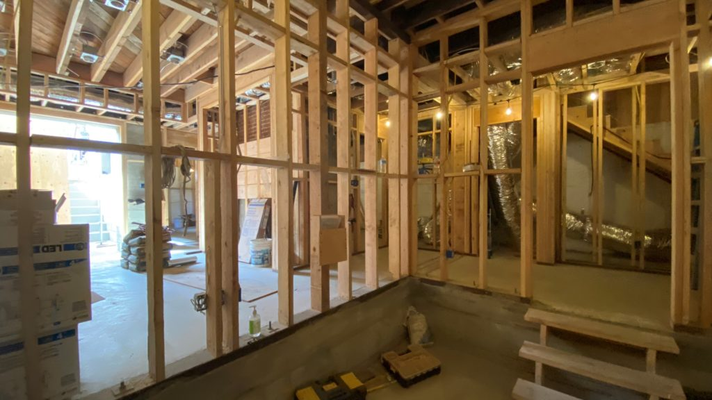 A full basement in a former crawlspace adds 1200 square feet of new space